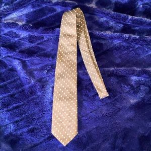 GIVENCHY. SILK BROWN TIE WITH LIGHT BLUE AND WHITE